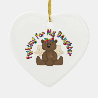 Fighting for my daughter (girl bear) ceramic ornament