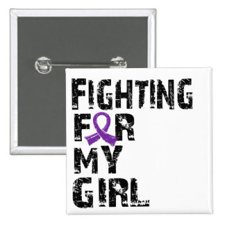 Fighting For My Girl Epilepsy 21 Pinback Buttons