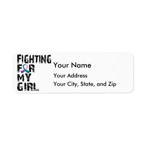 Fighting For My Girl Thyroid Cancer 21 Custom Return Address Labels