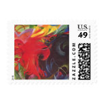 Fighting Forms by Franz Marc, Vintage Abstract Postage