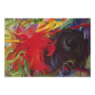 Fighting Forms by Franz Marc, Vintage Abstract Posters