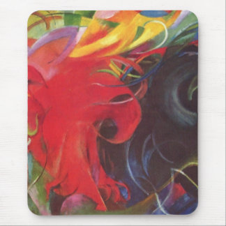 Fighting Forms (Kämpfende Formen) by Franz Marc Mouse Pad