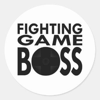 Fighting Game Boss Classic Round Sticker