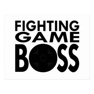Fighting Game Boss Postcard
