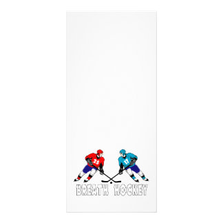 Fighting hockey players rack card