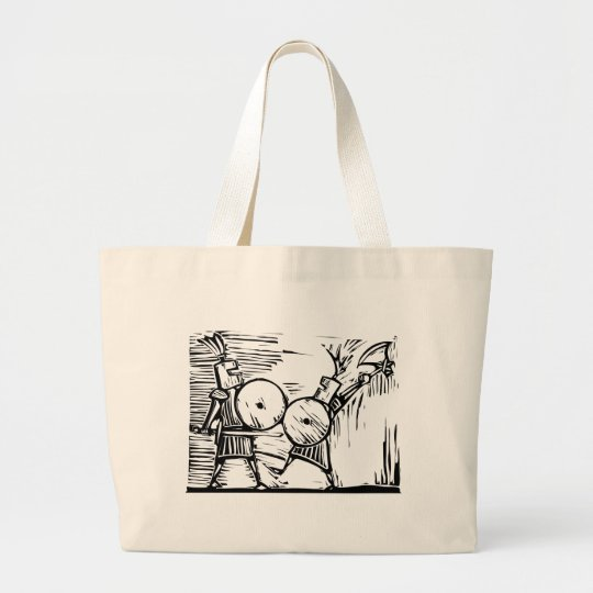 Fighting Knights Large Tote Bag
