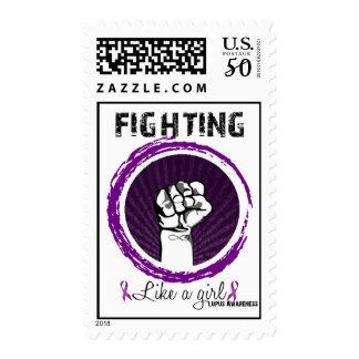 Fighting Like a Girl- Lupus Awareness Postage