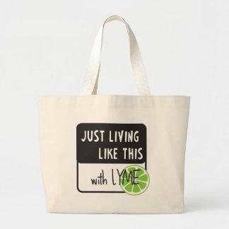 Fighting LYME disease Jumbo Tote Bag