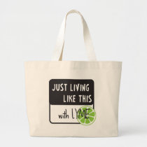 Fighting LYME disease Large Tote Bag