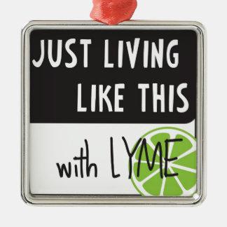 Fighting LYME disease Christmas Ornaments