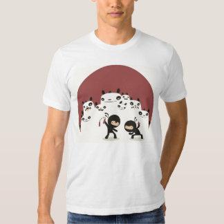 Fighting Ninjas, Watching Pandas mens white tshirt