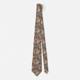 fighting pheasants art tie
