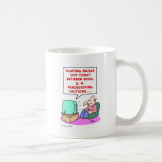 fighting rival UN peacekeeping forces Coffee Mugs