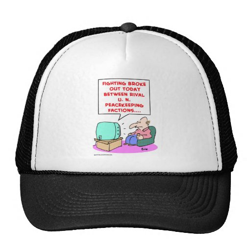 fighting rival UN peacekeeping forces Mesh Hats