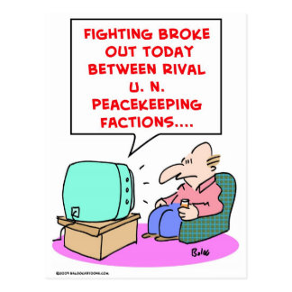 fighting rival UN peacekeeping forces Postcard