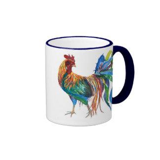 Fighting Rooster Ringer Coffee Mug