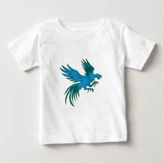 Fighting Rooster Shuffling Retro Baby T-Shirt