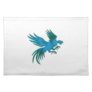 Fighting Rooster Shuffling Retro Cloth Placemat