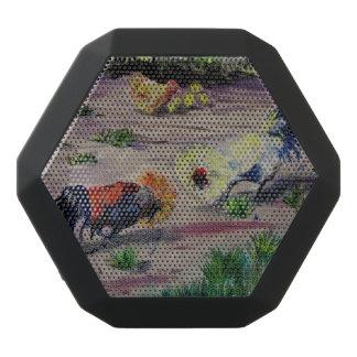 Fighting Roosters/Cockrels barnyard brawlers Black Bluetooth Speaker