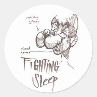 Fighting Sleep Classic Round Sticker