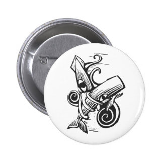 Fighting Squid Buttons