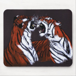 fighting tigers mousepad
