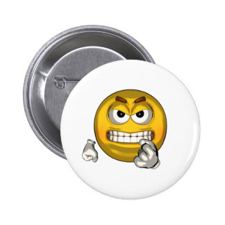 Fighting - toon pinback button
