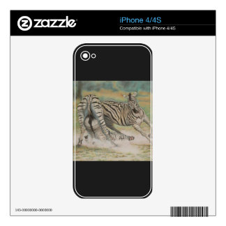 Fighting Zebras iPhone 4S Decal