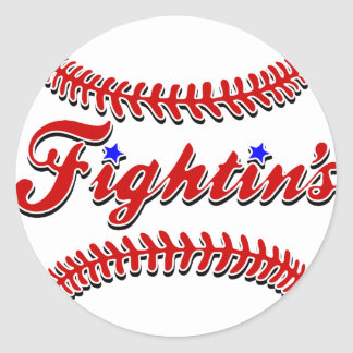 Fightin's Red Lace Original Classic Round Sticker