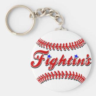 Fightin's Red Lace Original Keychain