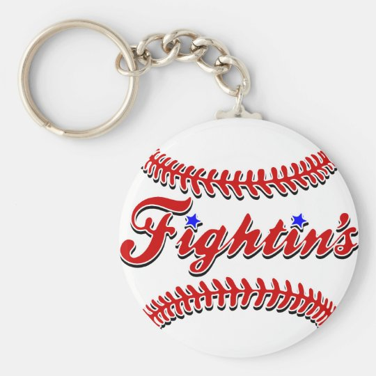 Fightin's Red Lace Original Keychain