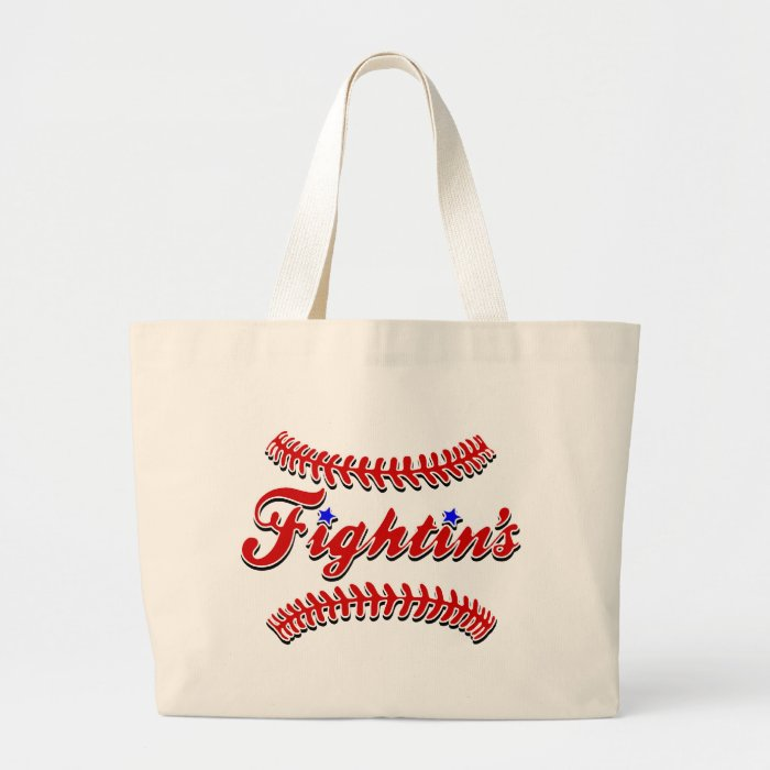 Fightin's Red Lace Original Large Tote Bag