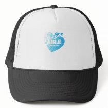 Fightng Support Ovarian Cancer Awareness Trucker Hat