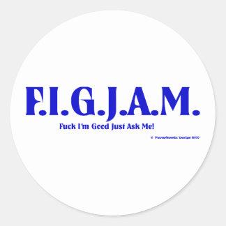 FIGJAM - BLUE CLASSIC ROUND STICKER