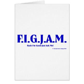 FIGJAM - BLUE GREETING CARD