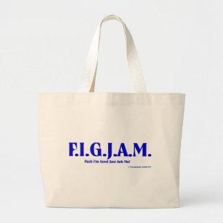 FIGJAM - BLUE JUMBO TOTE BAG