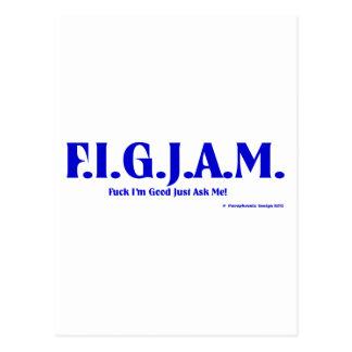 FIGJAM - BLUE POSTCARD