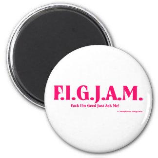FIGJAM - PINK 2 INCH ROUND MAGNET