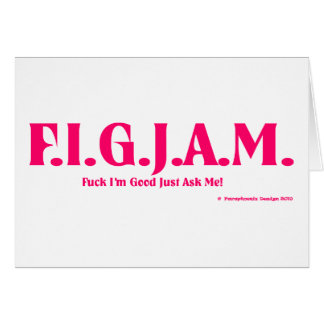 FIGJAM - PINK GREETING CARD