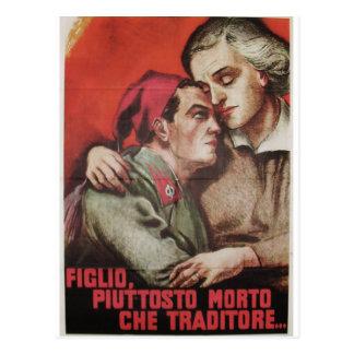 Figlio Propaganda Poster Postcard