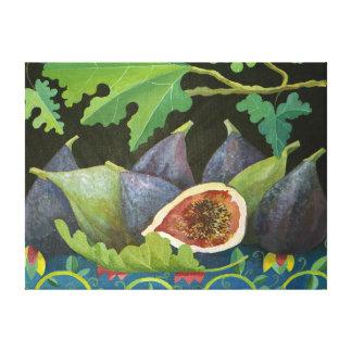 Figs on black 2014 canvas print