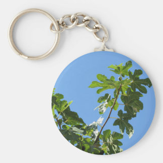 Figs on tree branches keychain