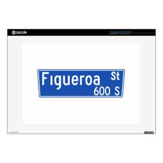 """Figueroa Street, Los Angeles, CA Street Sign 15"""" Laptop Skin"""