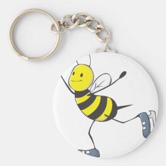 Figura abeja del patinador llavero redondo tipo pin
