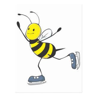 Figura abeja del patinador postales
