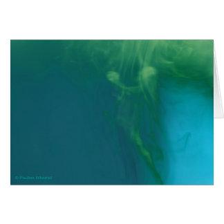 Figura abstracta subacuática de la sirena del © P Tarjeta De Felicitación