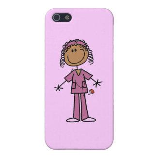 Figura afroamericana enfermera del palillo iPhone 5 cárcasa