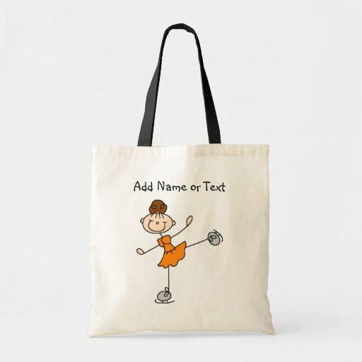 Figura anaranjada bolso modificado para requisitos bolsas lienzo