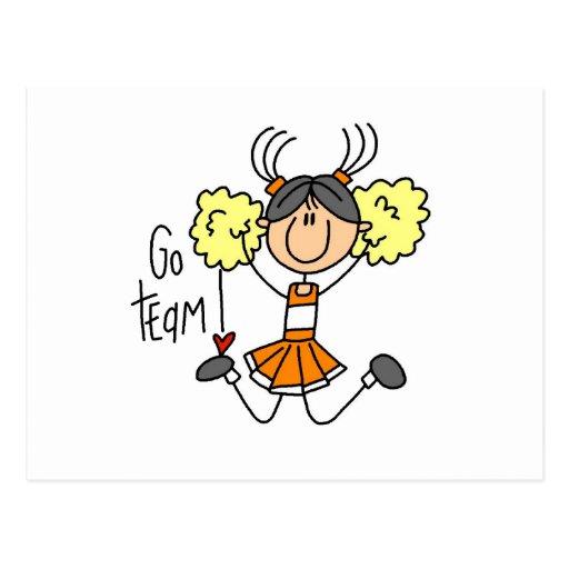 Figura anaranjada camisetas y regalos del palillo  tarjeta postal