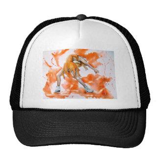 Figura anaranjada patinador del agolpamiento del p gorros